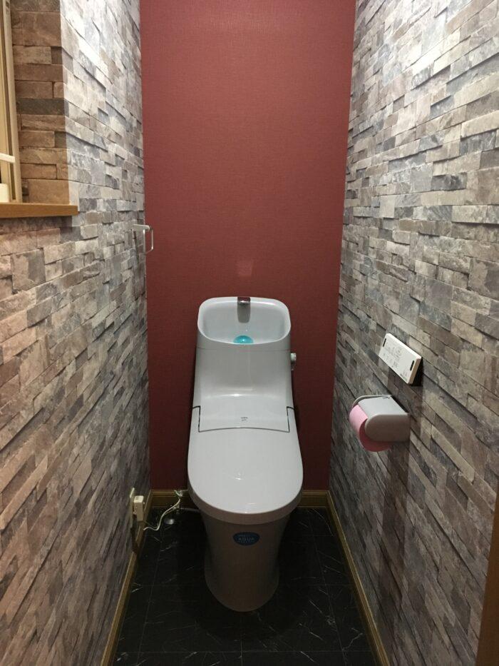 内装にこだわったトイレ