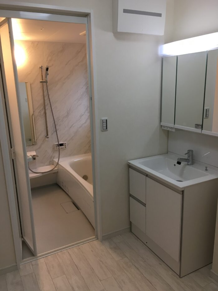 お風呂リフォーム 広々浴室工事