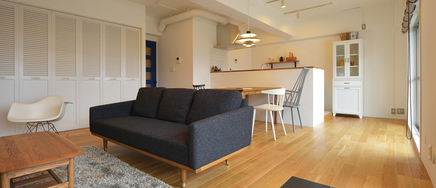 好きな家具に囲まれたくつろぎのマンションリノベーション